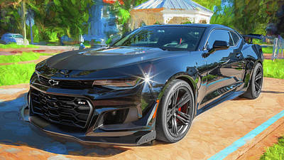 Photograph - 2018 Chevrolet Camaro Zl1 16d by Rich Franco