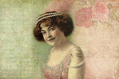 Photograph - 20th Century Actress In Beaded Gown by Peggy Collins
