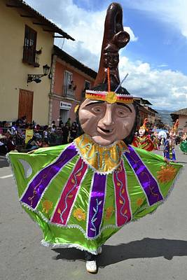 Abstract Male Faces - Carnival in Cajamarca  - Peru by Carlos Mora