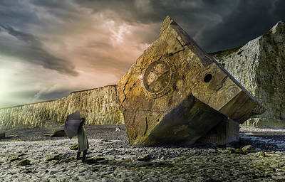 Photograph - 21st Century Relic And A Monolith by David Thompson
