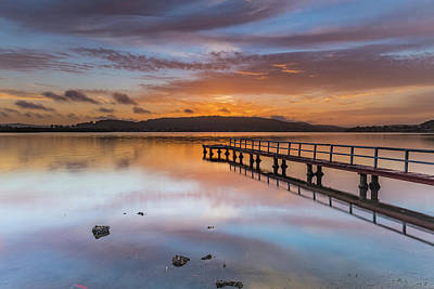 Just Desserts - Early Morning Clouds and Reflections on the Bay by Merrillie Redden