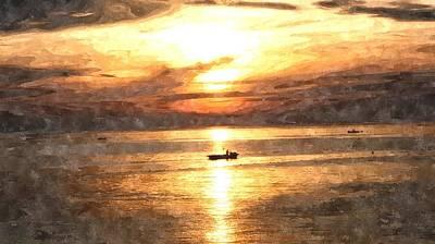 Miles Davis - Boats by GiannisXenos Watercolor ArtWork
