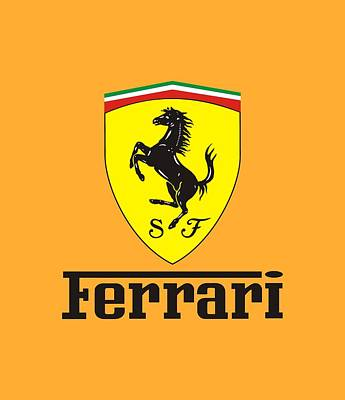 Ferrari Logo Wall Art Fine Art America