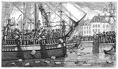 Drawing - Boston Tea Party, 1773 by Granger