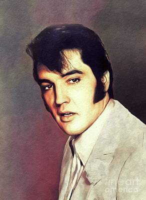 Rock And Roll Royalty-Free and Rights-Managed Images - Elvis Presley, Rock and Roll Legend by John Springfield