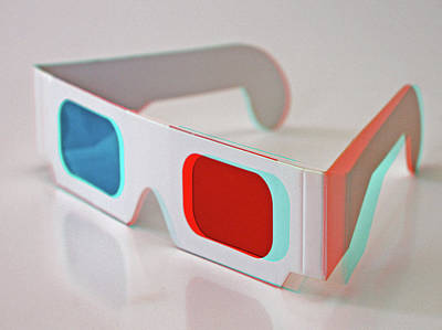 Enjoyment Photograph - 2d And 3d Glasses by Retales Botijero