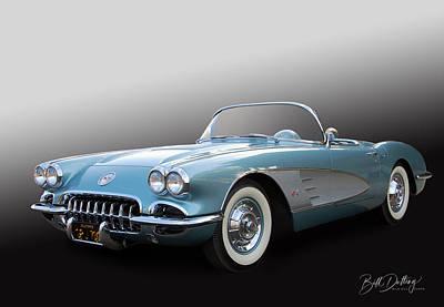Photograph - 1958 Corvette  by Bill Dutting