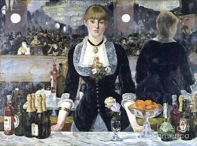 A Bar At The Folies Bergere Art Print