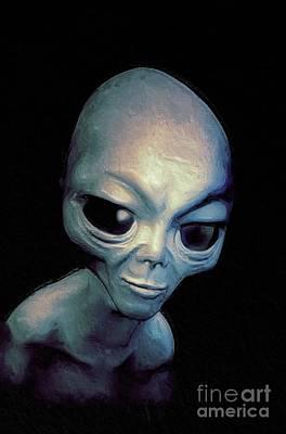 Science Fiction Paintings - Alien by Raphael Terra
