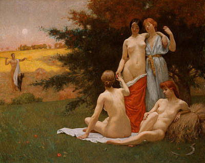 Painting - An Eclogue by Kenyon Cox
