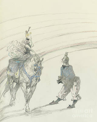 Drawing - At The Circus by Henri de Toulouse-Lautrec