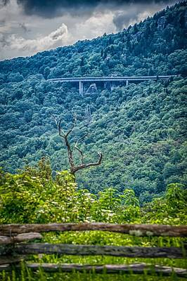 Photograph - Beautiful Scenic Views At Rought Ridge North Carolina Overlook by Alex Grichenko