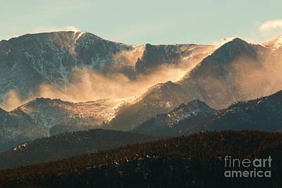Vintage Chevrolet - Blowing Snow on Pikes Peak Colorado by Steven Krull