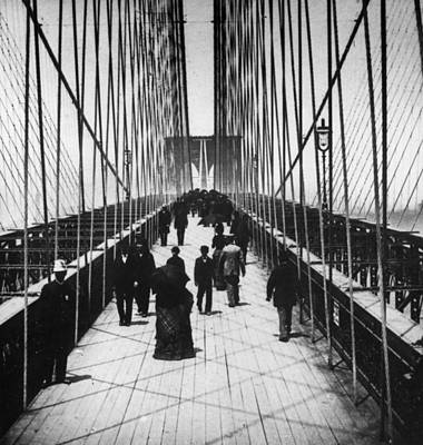 Photograph - Brooklyn Bridge by Hulton Archive