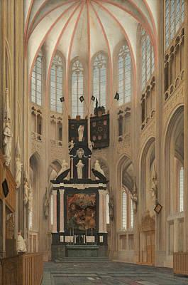 Painting - Cathedral Of Saint John At 's-hertogenbosch by Pieter Jansz Saenredam