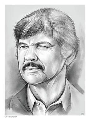 Automotive Paintings Royalty Free Images - Charles Bronson Royalty-Free Image by Greg Joens