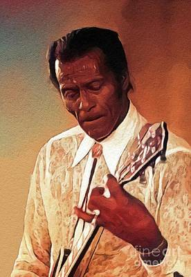 Music Royalty-Free and Rights-Managed Images - Chuck Berry, Music Legend by John Springfield