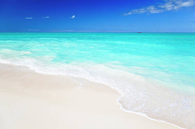 Photograph - Clean White Caribbean Beach With Blue by Michaelutech