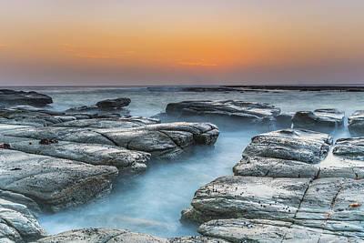 Photograph - Coastal Sunrise And Rock Platform by Merrillie Redden