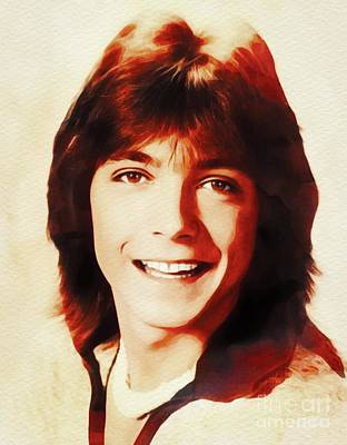 Music Paintings - David Cassidy, Hollywood Legend by Esoterica Art Agency