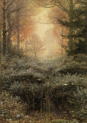 Painting - Dew Drenched Furze  by John Everett Millais