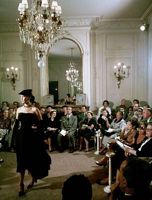Photograph - Dior In France In The 1950s - by Kammerman
