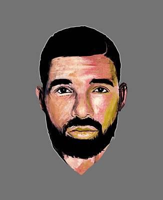 Drizzy Wall Art - Drawing - Drake by Fania Liun