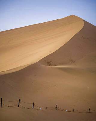 Photograph - Dunes At Dunhuang Gansu China by Adam Rainoff
