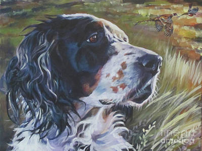 Pheasant Wall Art - Painting - English Setter In The Field by Lee Ann Shepard