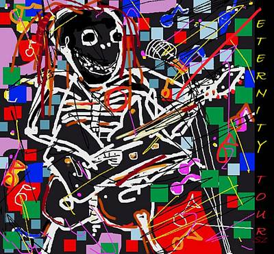 Musicians Drawings Rights Managed Images - Eternity Tour Royalty-Free Image by Samuel Zylstra