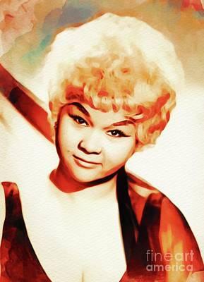 Music Paintings - Etta James, Music Legend by Esoterica Art Agency