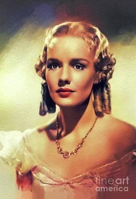 Red Roses - Frances Farmer, Vintage Actress by Esoterica Art Agency