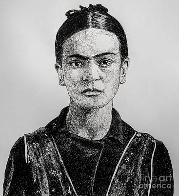Drawing - Frida by Chris Mackie