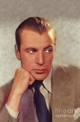 Music Paintings - Gary Cooper, Vintage Movie Star by Esoterica Art Agency