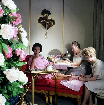 Photograph - Gloria Vanderbilt At The House Of Revlon by Horst P. Horst