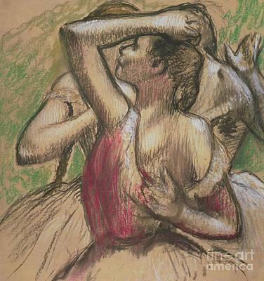 Pastel - Group Of Dancers by Edgar Degas