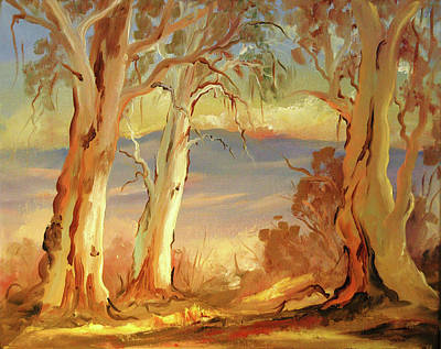 Bath Time - Gum Trees by Glen Johnson