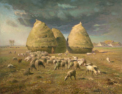 Painting - Haystacks - Autumn by Jean-Francois Millet
