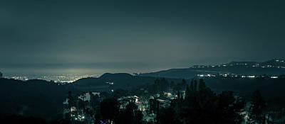 Photograph - Hollywood Hills And Surrounding Landscape Near Los Angeles by Alex Grichenko