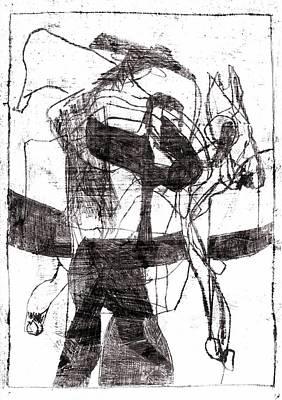 Drawing - Horseman by Artist Dot
