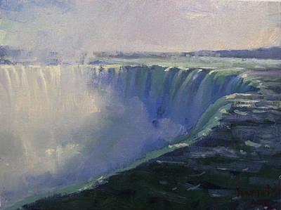 Niagara Falls Wall Art - Painting - Horseshoe Falls by Ylli Haruni