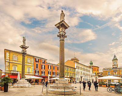 Ethereal - main square in Ravenna in Italy by Vivida Photo PC