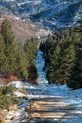 Steven Krull Royalty-Free and Rights-Managed Images - Manitou Incline in Winter by Steven Krull