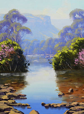 Painting Rights Managed Images - Megalong creek Royalty-Free Image by Graham Gercken