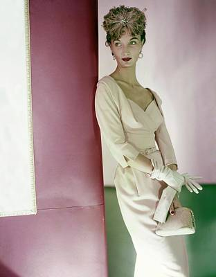 Photograph - Model In A Larry Aldrich Dress by Horst P. Horst