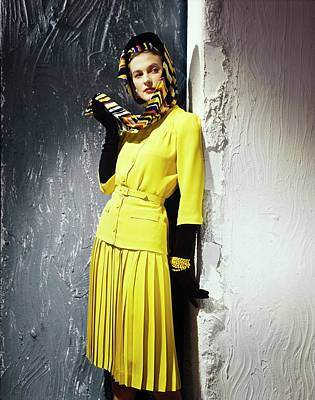 Photograph - Model In A Vogue Patterns Dress by Horst P. Horst