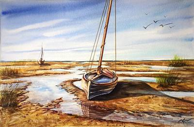 Painting - Morning Solitude  by Katerina Kovatcheva