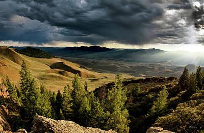 Photograph - Mountain Evening by Leland D Howard