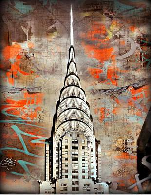Mixed Media - New York by Javier Lopez