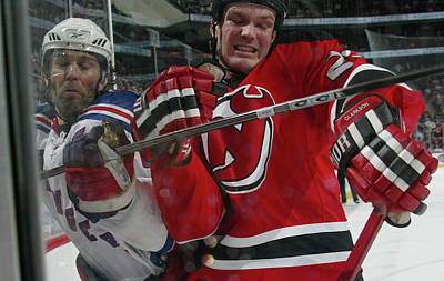 Photograph - New York Rangers V New Jersey Devils by Bruce Bennett